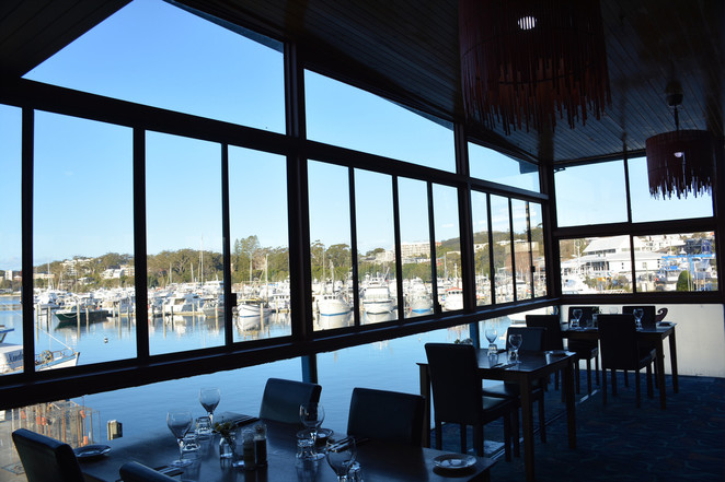 the wharf bar and grill, nelson bay, seafood, restaurants with views, water views, best water views in nelson bay, dinner, lunch, seafood restaurants, nelson bay wharf, marina, restaurants at the marina, NSW,