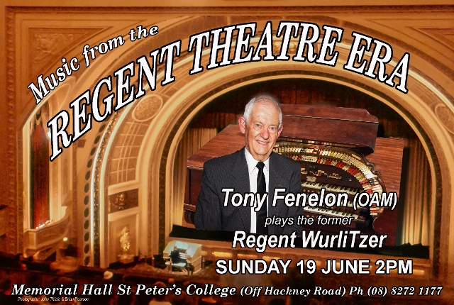 Tony Fenelon in-concert at the St Peters College Memorial Hall Organ