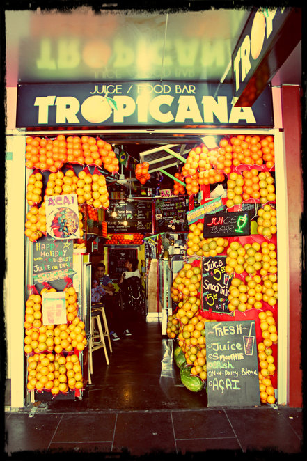 tropicana, tropicana juice and food bar, juicing, swanston street, CBD, fresh juices, veggie juices, lunch