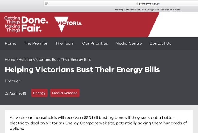Victorian Energy Compare Saving Gas Electricity Bill July 1 State Government Media Release