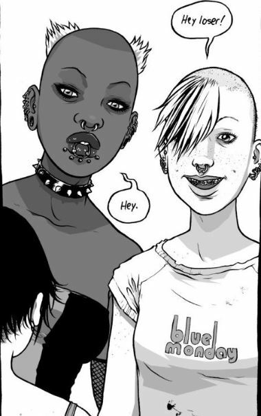 Wet Moon, graphic novel, graphic novel with goths, YA graphic novel, Sophie Campbell