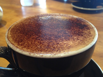 A big, hot and strong cappuccino - just the way I like it
