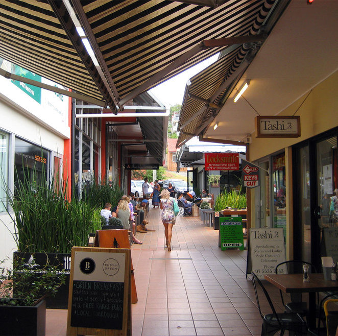 There are lots of shops, cafes, restaurants and laneways at Burleigh Beach