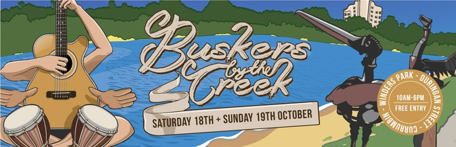 Buskers by the Creek, Currumbin, music, art, dance, food, drink, entertainment, kids activities, battle of the buskers
