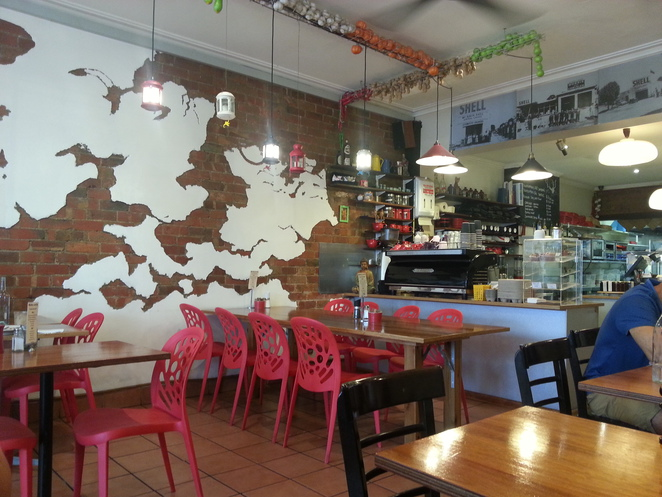 cafe, map
