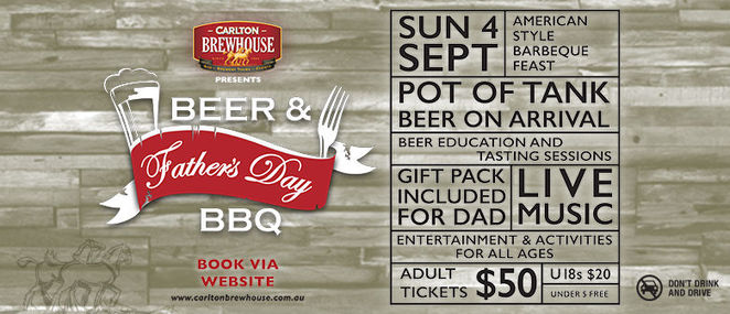 Carlton BrewHouse Fathers Day Beer and Barbecue