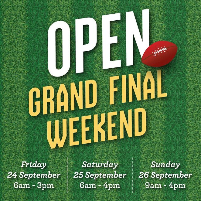celebrate the afl grand final with queen vic market, community event, fun things to do, qvm market open grand final weekend, market stalls, shopping, western bulldogs bandwagon, support a victorian team, afl store market sports, shopping afl goods