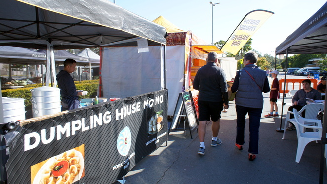 Food stalls at the Chermside Farmers Market