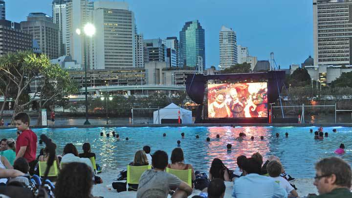Christmas cinema series at south bank brisbane for Pool home show brisbane