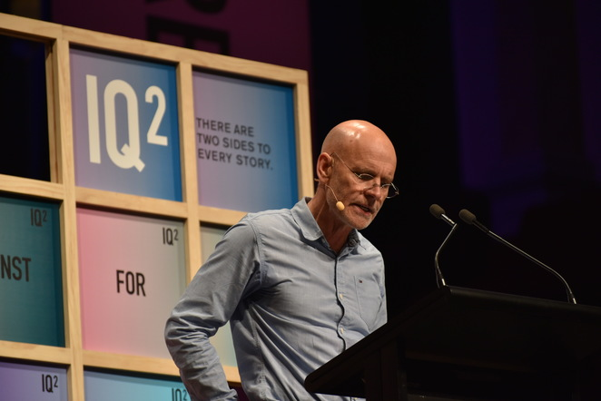 Clive Hamilton, IQ2 Debate, The Ethics Centre, Jade Jackson Photography, The Future of Humanity.