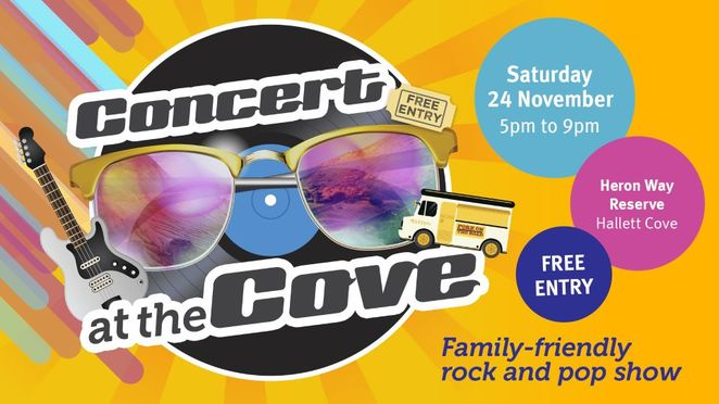 Concert at the Cove, City of Marion, free, Hallett Cove, november