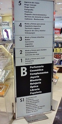 different floors in el corte ingles