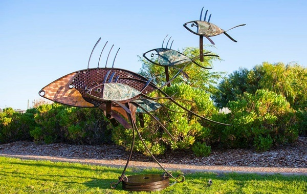 Fish,sculpture,at,Dunsborough