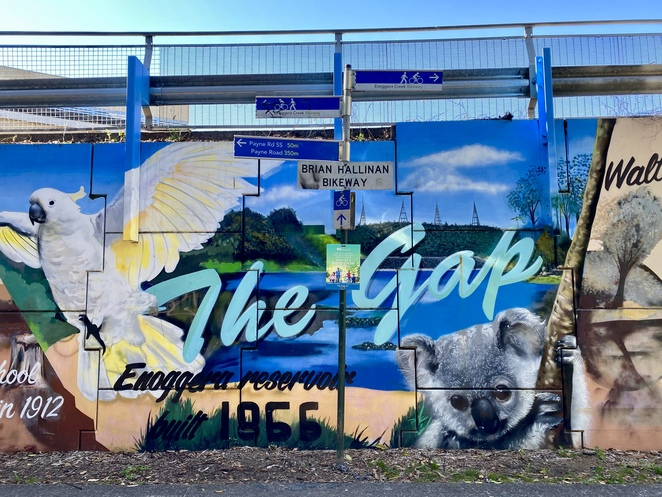 The Mural along the walk