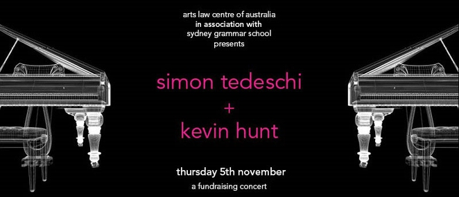 Fundraising for the arts, fundraising for artists, Simon Tedeschi, Kevin Hunt, Sydney Grammar School, Yurong St Darlinghurst, 1500 seat hall Sydney Grammar School, Jazz pianist Kevin Hunt, Classical pianist Simon Tedeschi