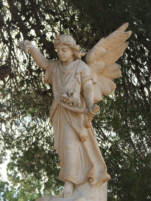 headstone, angel, tombstone, Moonta Cemetery