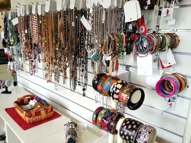 Some of the jewellery on display at the Red Cross Store in Blackwood.