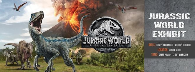 jurassic park, south point tuggeranong, shopping centre, school holiday activities, free activities, kids, october 2018, september, 2018,