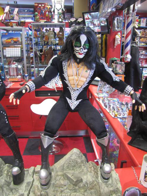 Kiss figurine at Johnnys Toy Store