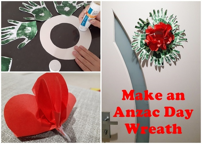 make an anzac day wreath, kids craft, anzac day, things to make, how to, kids, 2020, 2021, australia, ANZAC crafts, DIY,