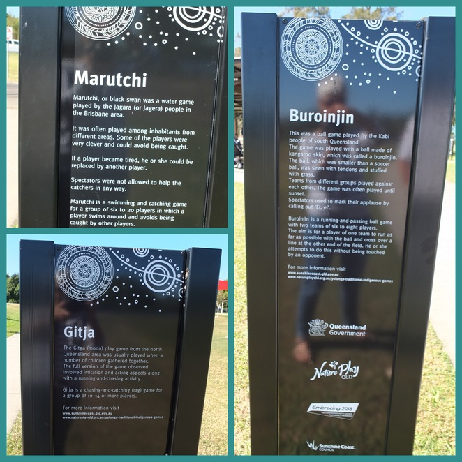 Muller Park, Undambi Playground, Bli Bli, Gubbi Gubbi First National people, Traditional Custodians, 3.6 hectare park, alongside Maroochy River, family-oriented, oyster path, fish trap, black swan rockers, basket swing, indigenous games trail, Biwathin, to laugh, unfenced dog off-leash area, Maroochy River Rowing Club, basketball half court, BBQ facilities, Grug Story Seat, skate park, boat ramp, boat trailer car park, fish cleaning station, wheelchair accessible, fishing rods, bicycles, skate boards, fun-filled outdoor adventure
