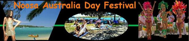 Noosa Australia Day Festival, FREE EVENT, Noosa River, Tewantin Noosa Lions Club, Rotary Club of Noosa Heads, Centre Stage Entertainment, AZ.U.R, Alexander Mills, Nickleby the Magician, Ryan Giles Band Carl Lynch Band, Phil Emmanuel, Sharon Brooks and Pocket Love Band, Marquee Stage Entertainment, Cherry Ripes Quartet, Big Aussie Breakfast, balloon artistry, funky hair styles, face painting, pony rides, jumping castle, bungee jumping, roaming entertainers, Noosa Beach classic cars, reptile show, Australia Day Citizenship Ceremony, The J, Noosa Heads