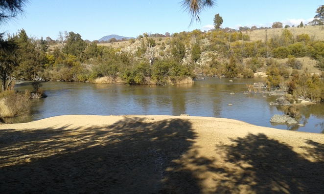 Pine Island reserve, swimming holes in tuggeranong canberra