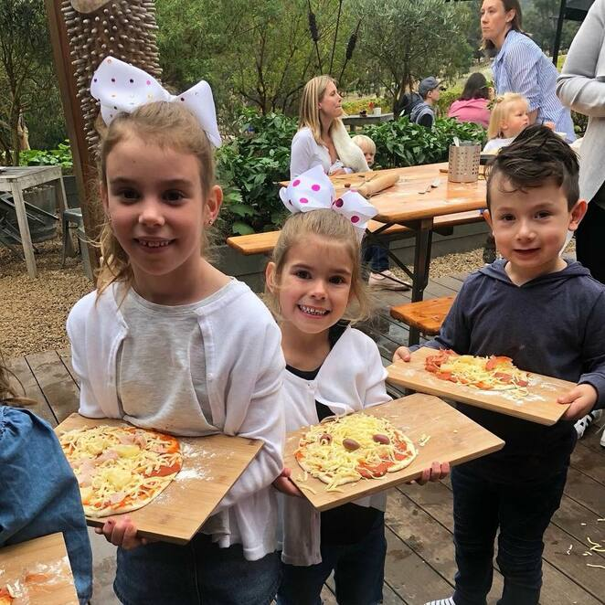 pizza making at green olive