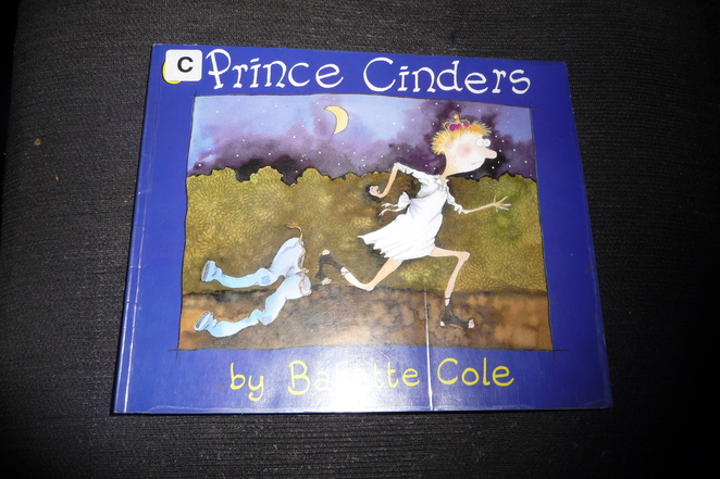 prince cinders, children's books, childrens books about masculinity, babette cole, fairytales