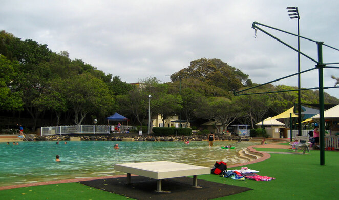 Settlement Cove Lagoon is a great place to take your kids for a swim