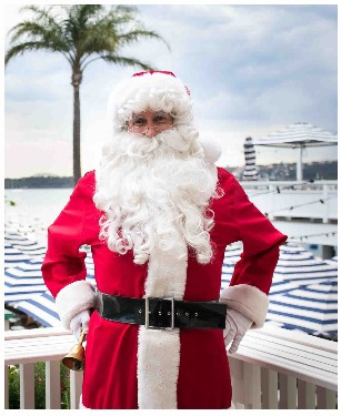 santa photos by the bay, watsons bay boutique hotel, outdoor santa photos