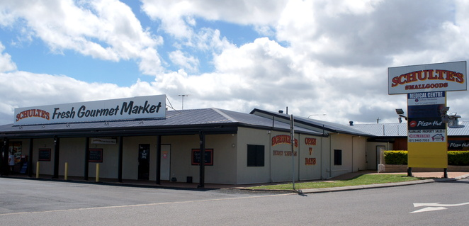 Schulte's is on your left when heading down the Warrego Highway in the direction of Brisbane