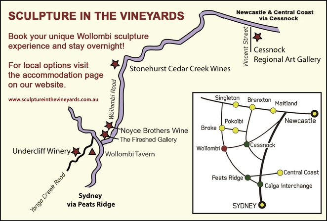Sculpture in the Vineyards map