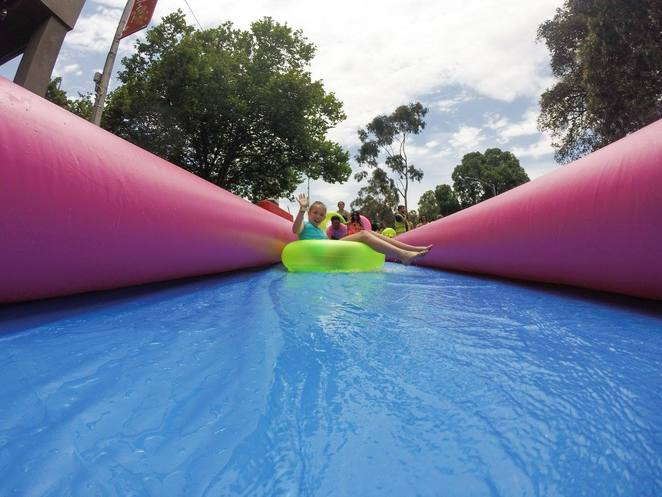 Slide the Square School Holiday fun