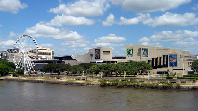 The Cultural Forecourt and QPAC at South Bank