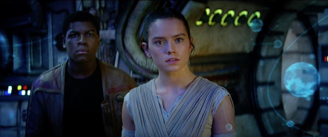 Star Wars The Force Awakens (Star Wars Episode VII) - Rey and Finn