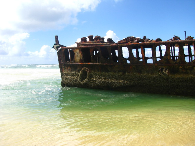 The Shipwreck on the beach, Fraser Island