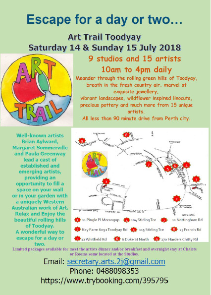 toodyay arts trail 2018, fun things to do, shopping, community event, toodyay arts, shire of toodyay, the artists nook, artists, booby j's coffee van, sculptures, ceramicists, painters, meet the artist dinner, artistic, art lover
