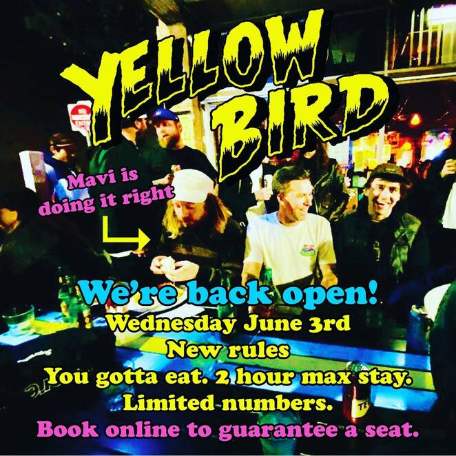 yellow bird's happy hour 2020, activity, alcohol consumption, booze, drinking hole, yellow bird, pub, bar, restaurant, social distancing, covid-19, mexican food