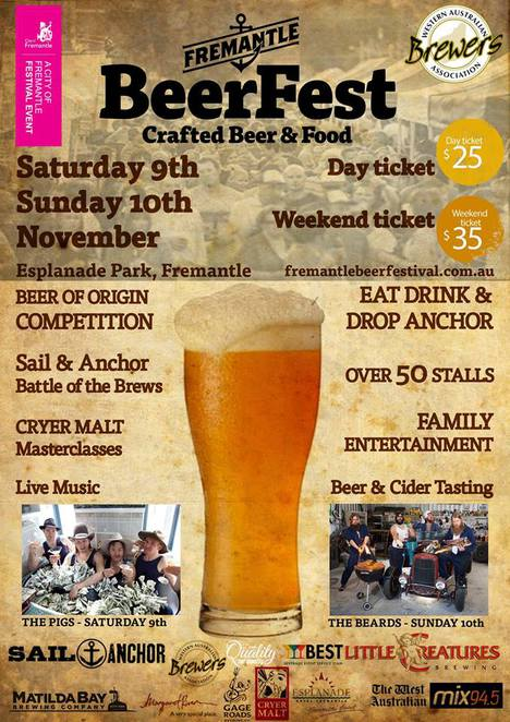 Image Courtesy of the Fremantle Craft Beer and Food Festival facebook page