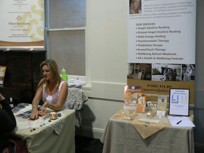 adelaide health and wellbeing market, market stalls goodwood road, church of the trinity, personal readings
