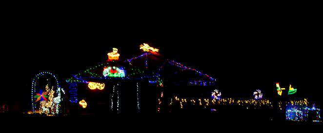 barbour road christmas lights bracken ridge brisbane queensland australia walking nighttime december free