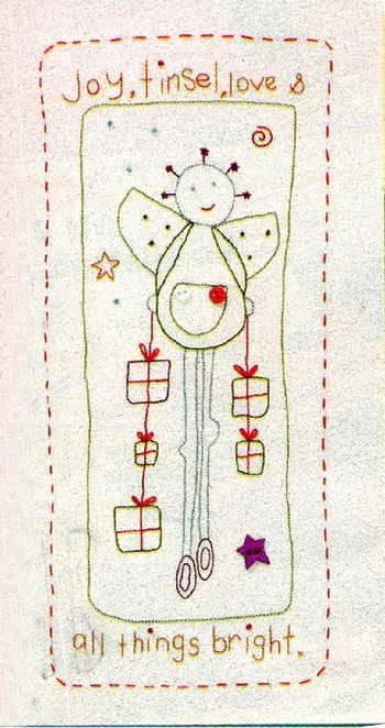 Christmas Hand stitched Cards what a special Christmas greeting