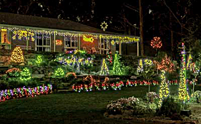Christmas, Lane, Lights, Display, 2018, Lobethal, sparkling, fantasy