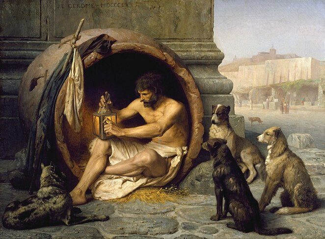 Painting of the philosopher Diogenes courtesy of Walters Art Museum