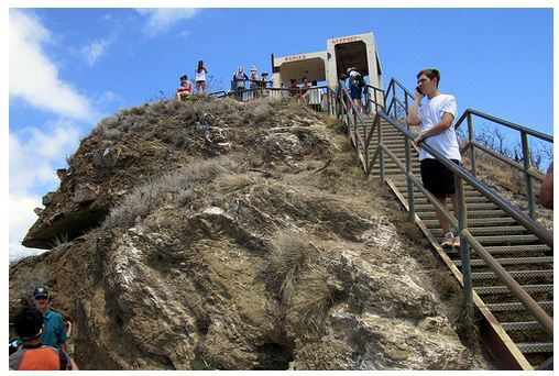 Diamond Head State Monument, Diamond head crater, tuff cone, volcanic crater, Hawaii, Honolulu, Waikiki, Fire Control Station,
