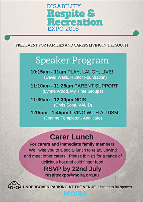 disability respite & recreation expo 2016, families and carers, disability opportunities, stalls, kingston city hall, shopping, sensory toys, speakers, ndis, autism, parent support, moiura expo, alfred health, carer services, state government victoria, interpreters disabled, intellectually impaired