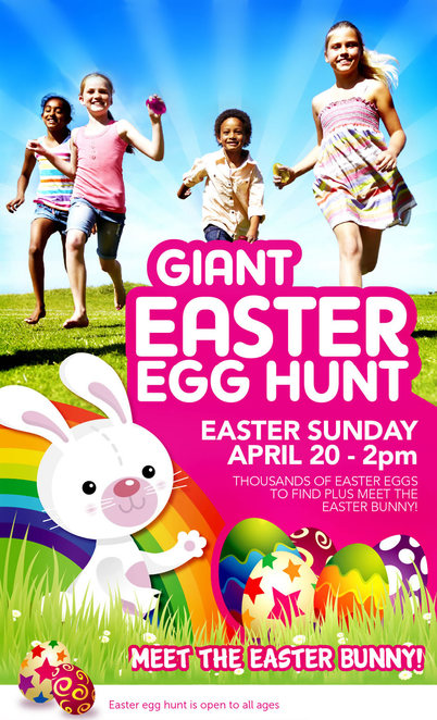 Easter Egg Hunt, Adventure Park, Geelong, Sunday 20th April