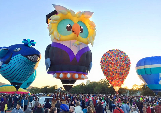 events ACT, canberra balloon spectacular, festivals, hot air balloons,