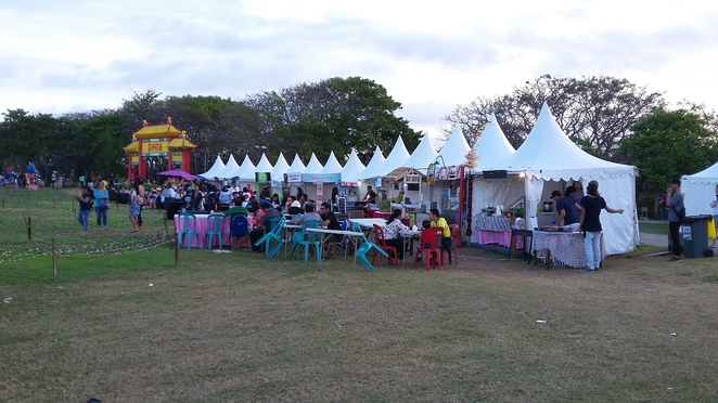 food stalls, nusa dua light festival